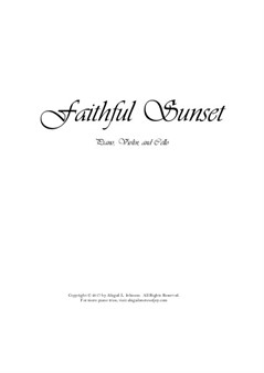 Faithful Sunset (Piano Trio)